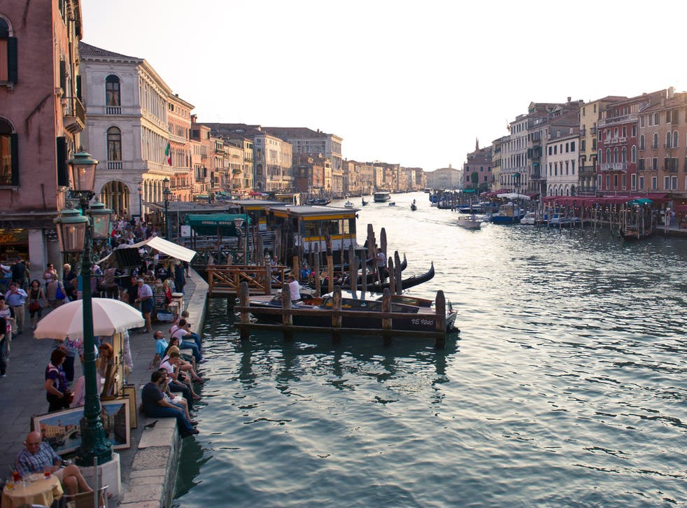 It was all quiet on the Grand Canal today after Venice ordered its first ban on the motorboats that threaten the crumbling city's future
