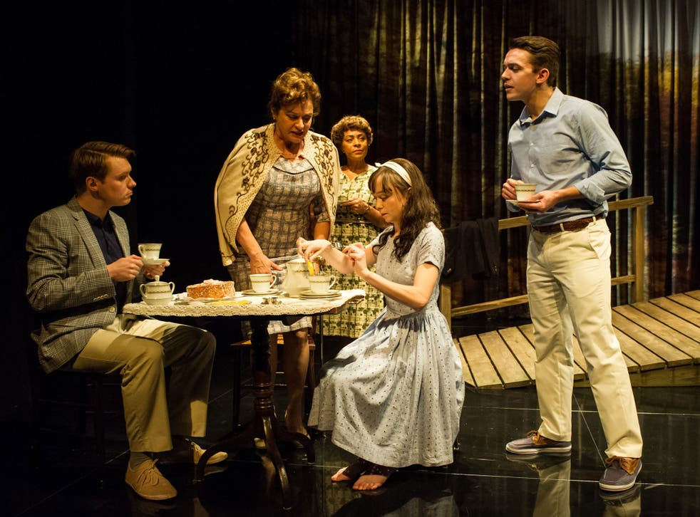 On the jetty: Diana Quick, centre, stars in Greenberg's The American Plan