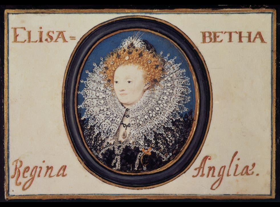 Letterhead: Nicholas Hilliard's miniature of Elizabeth I 'limned' on parchment