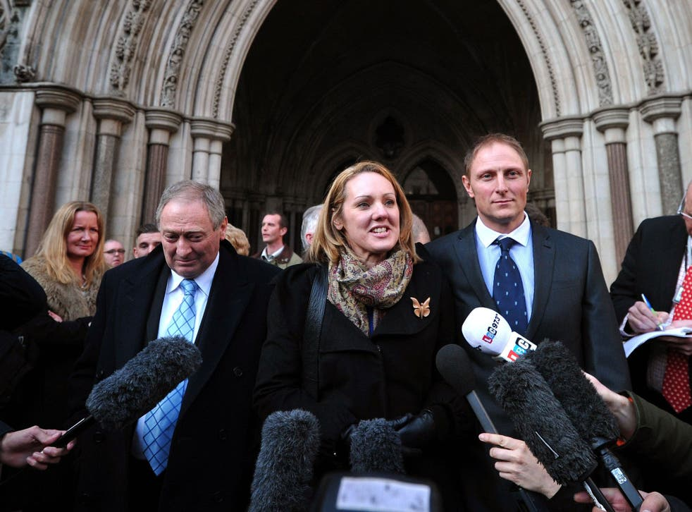 Sergeant Danny Nightingale and his wife Sally after his conviction was overturned