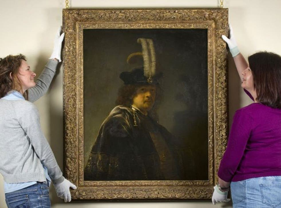 A recently discovered early self-portrait of the Dutch artist Rembrandt