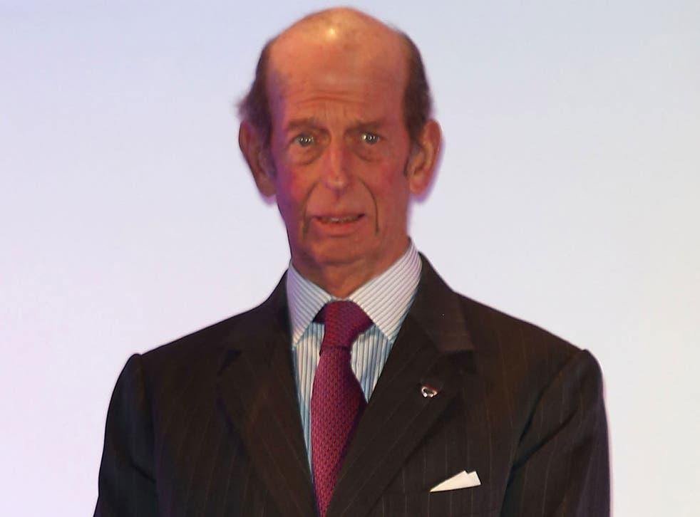 Prince Edward Duke of Kent in December 2012