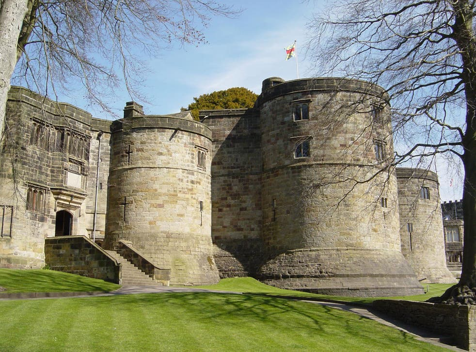 On the lookout: Skipton's well-preserved medieval castle