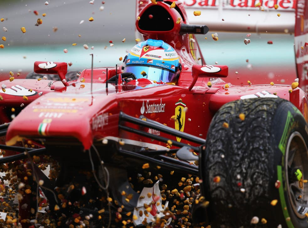 Fernando Alonso's Malaysian Grand Prix lasted just one lap following a foolish decision made by the Spaniard and Ferrari