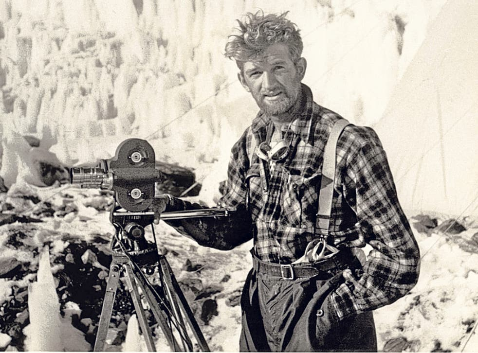Lowe on Everest in 1953; this picture is from 'The Conquest of Everest: Original Photographs from the Legendary First Ascent', to be published by Thames & Hudson in May