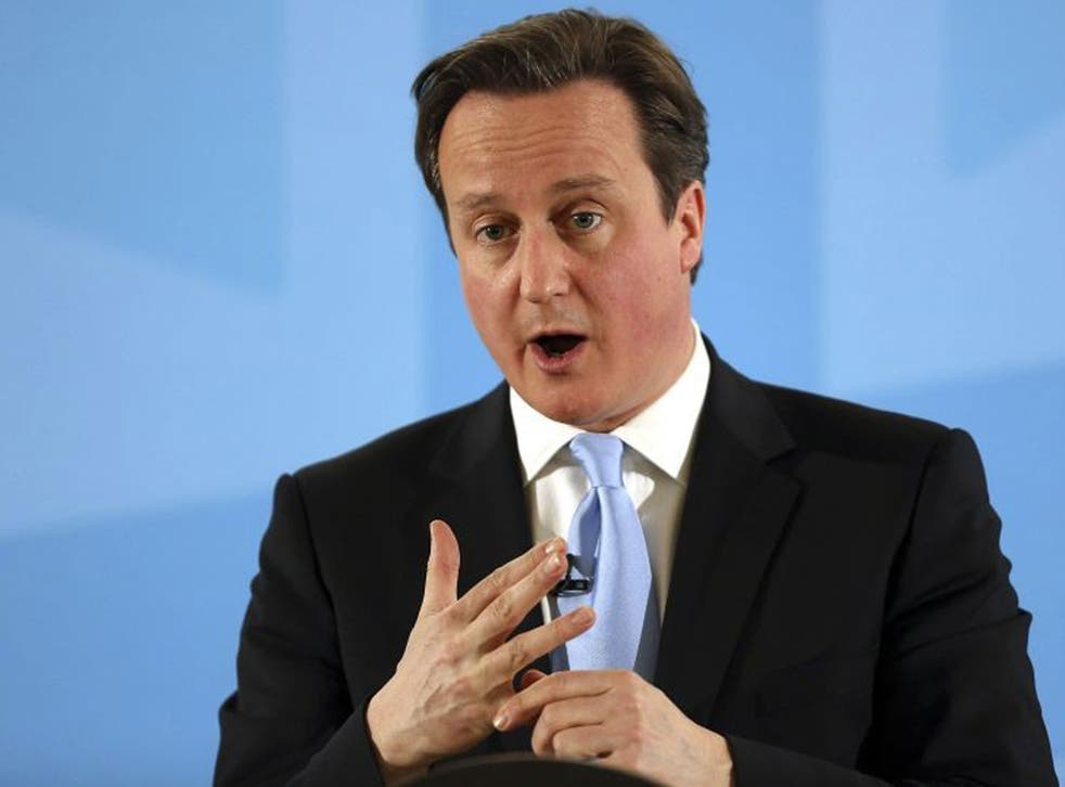 David Cameron spoke about immigration at a press conference in Ipswich