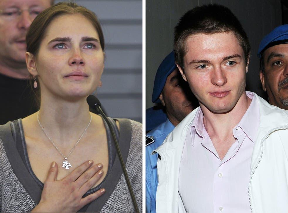 Amanda Knox and her ex-boyfriend Raffaele Sollecito