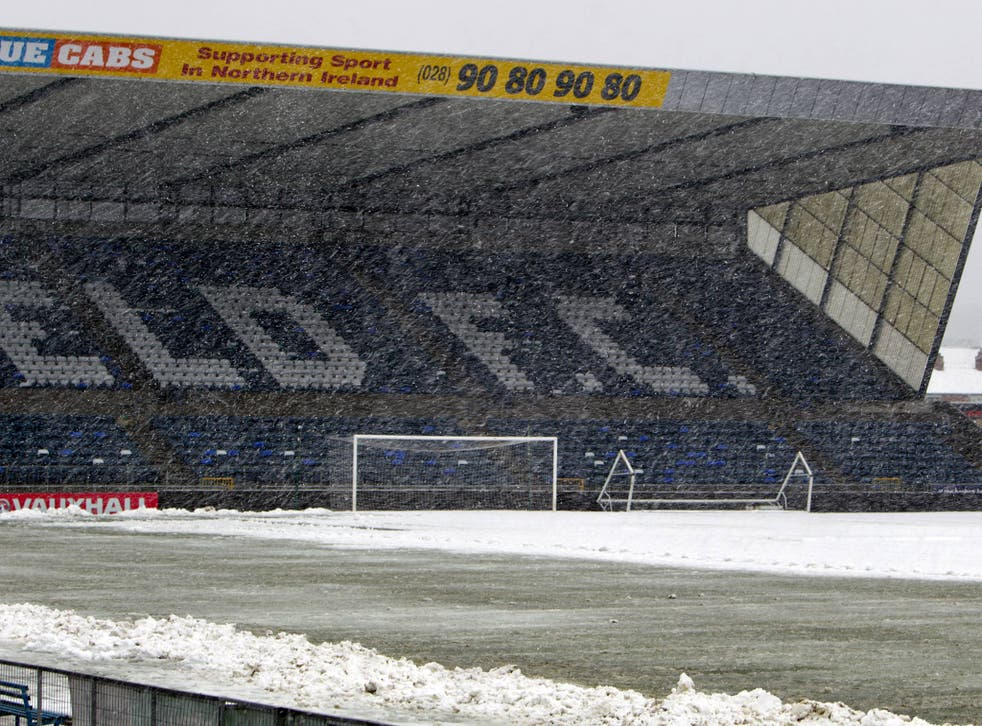 A view of the conditions at Windsor Park