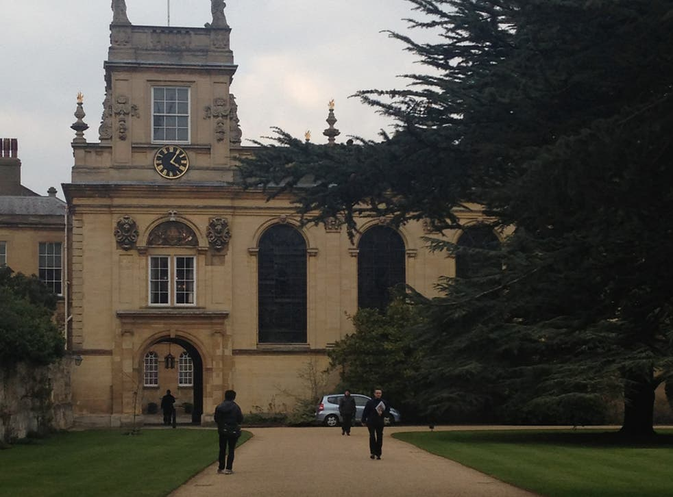 Trinity College Oxford, at the centre of the scandal