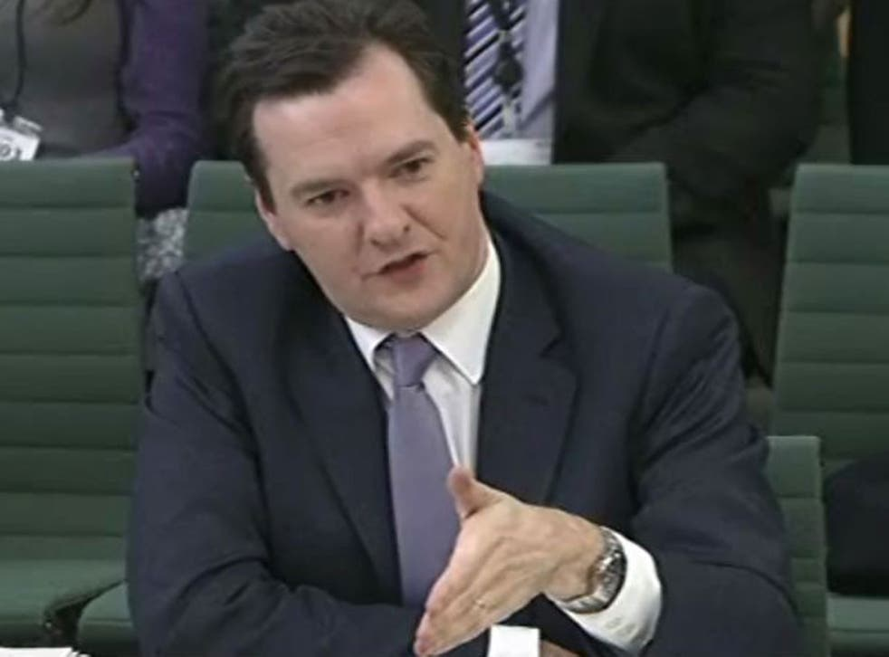 The Chancellor George Osborne addressing the Treasury Select Committee