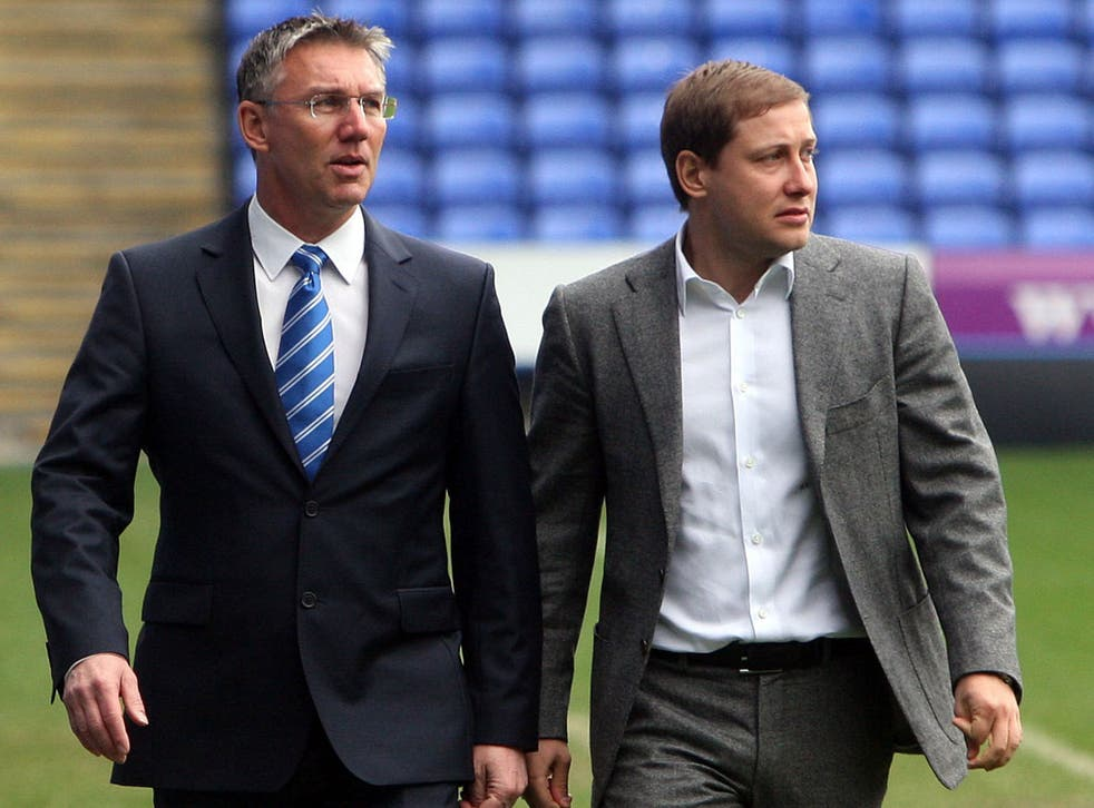 Nigel Adkins (left) with owner Anton Zingarevich. Zingarevich expects him to be more successful in the transfer market than Brian McDermott