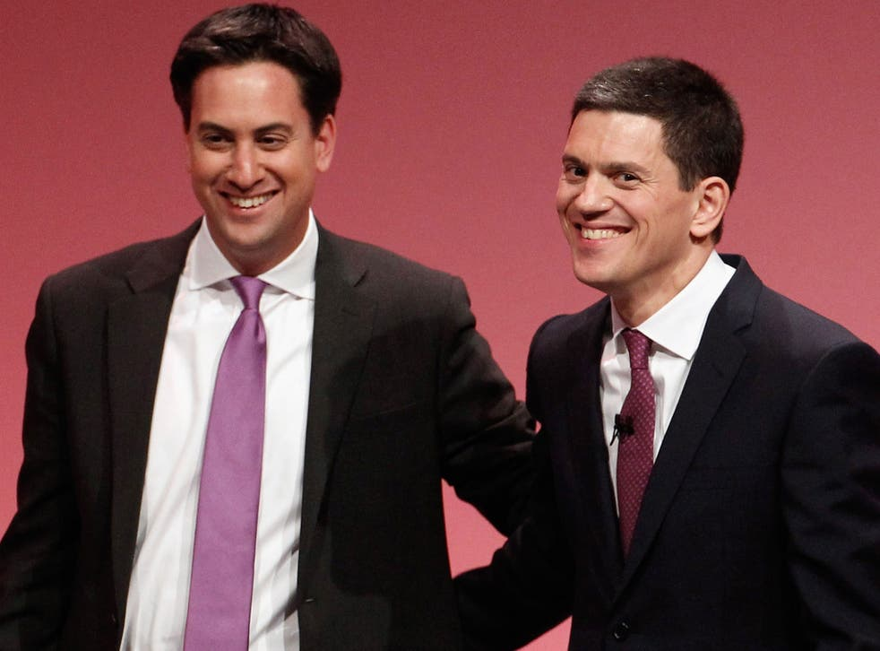 David Miliband with his brother, Labour leader Ed Miliband