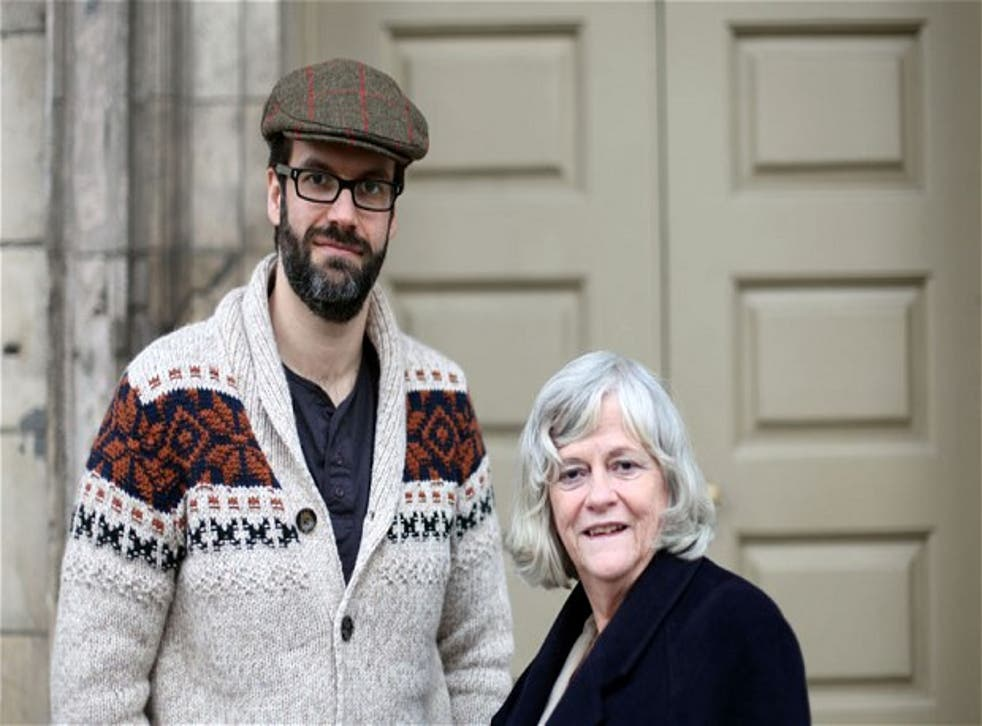 Marcus Brigstocke and Anne Widdecombe in Are You Having A Laugh?