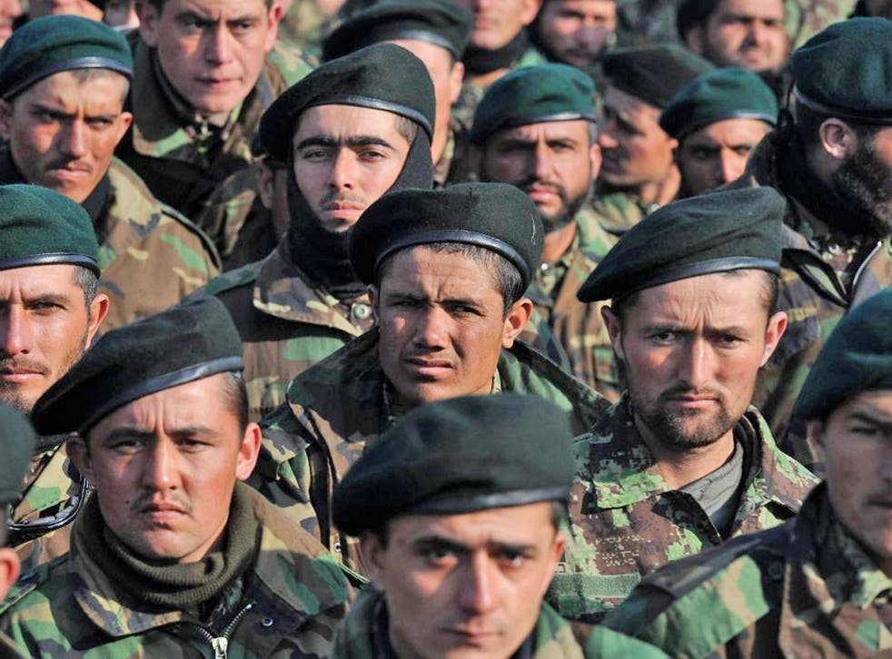 Afghan recruits are leaving the national army at a rate of 5,000 every month