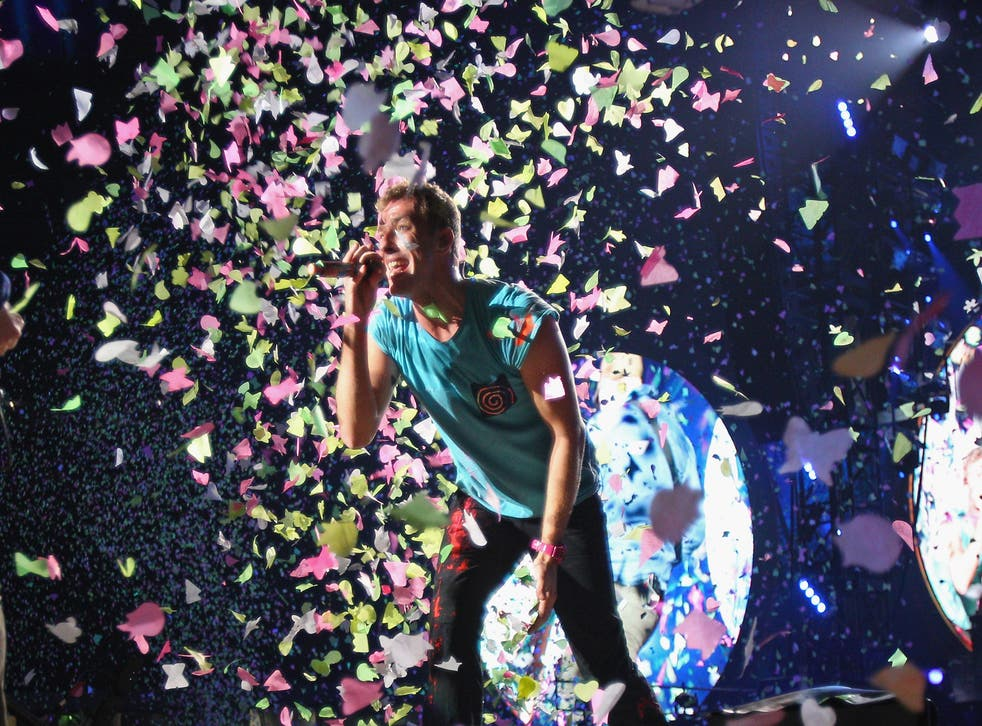 Chris Martin of Coldplay performing in Melbourne last November
