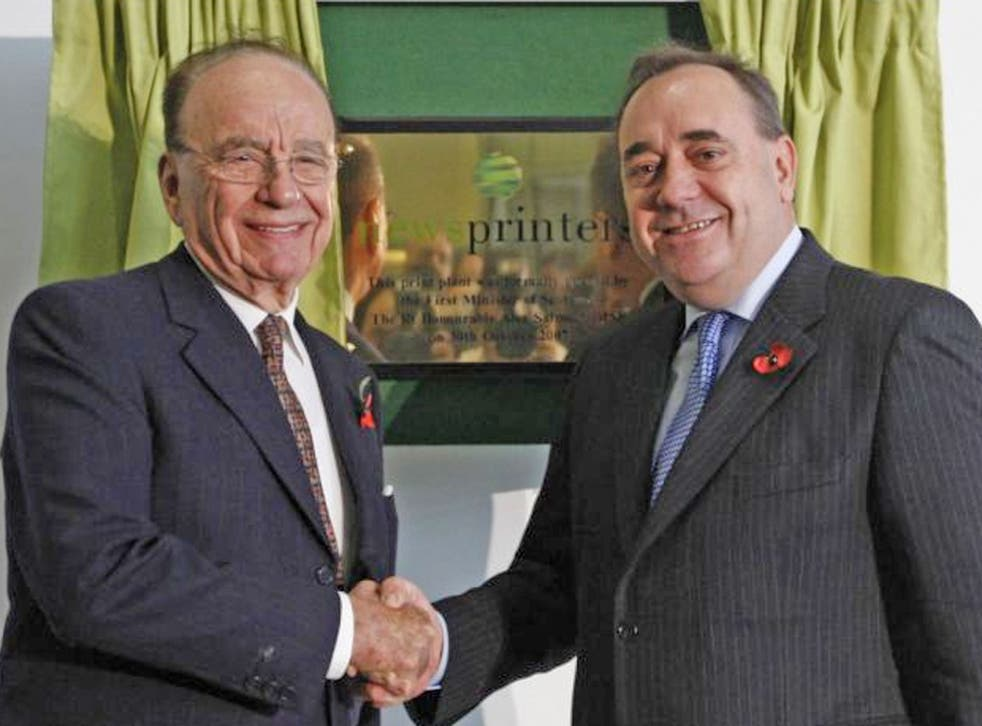 Rupert Murdoch had previously referred to Alex Salmond as 'the most brilliant politician in the UK'