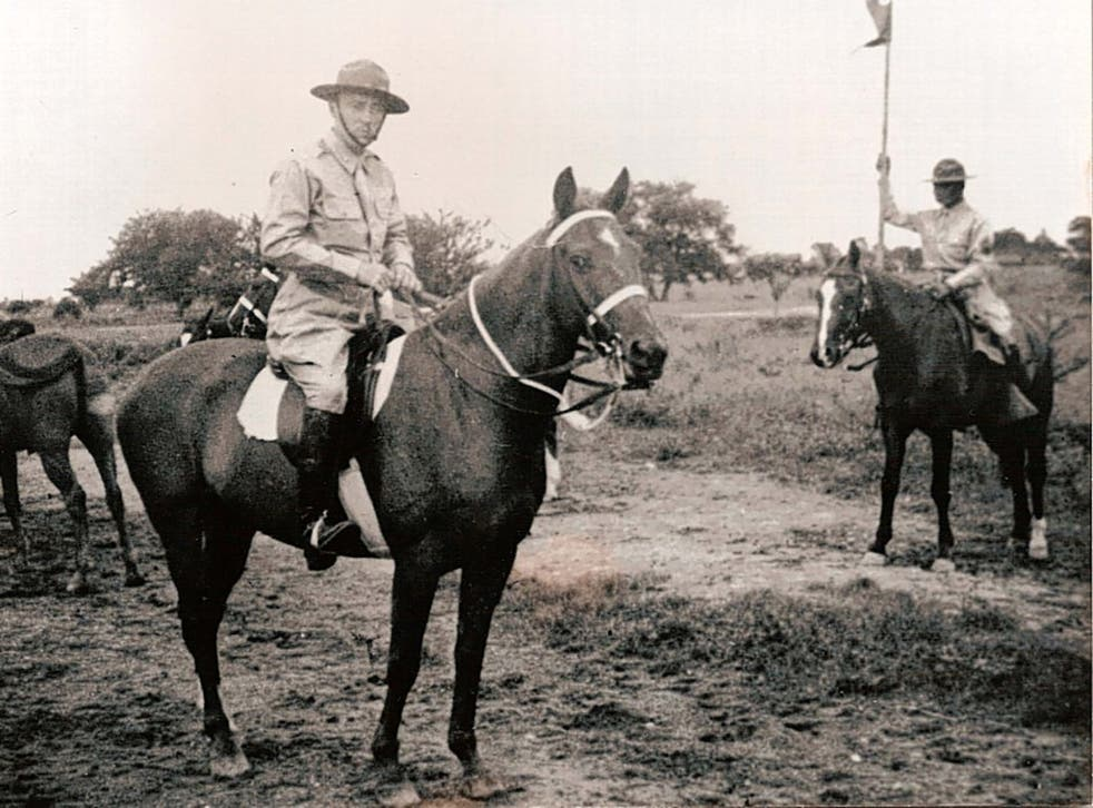Ramsey, left, on Bryn Awryn in 1941, the year before they charged the Japanese in the Philippines