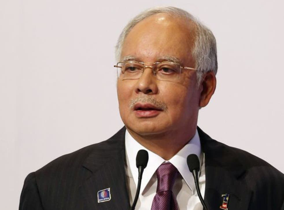 The polls will be fiercely contested between Prime Minister Najib Razak's (pictured here) long-ruling National Front coalition and opposition leader Anwar Ibrahim's three-party alliance