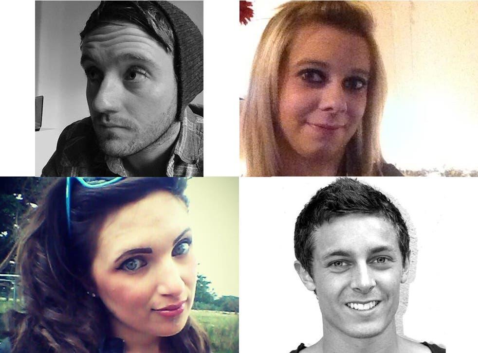 Four wise graduates: (clockwise, from top) Jonathan Denby, Charlotte Taylor, Pam Bustard, Ben Ducker