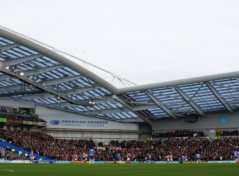 A view of Brighton's Amex Stadium