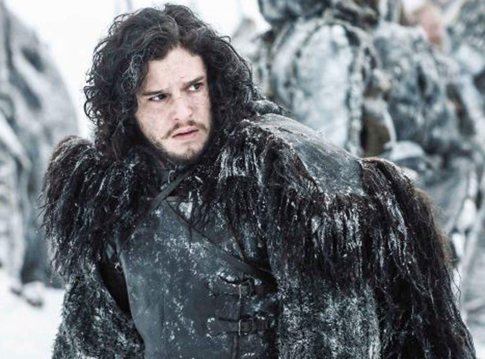 Full pelt: Kit Harington as Jon Snow
