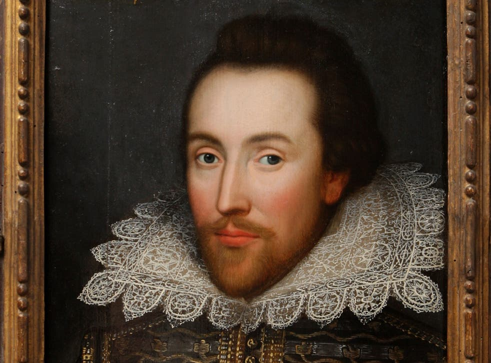 A painting of William Shakespeare which is believed to be the only authentic image of Shakespeare made during his life