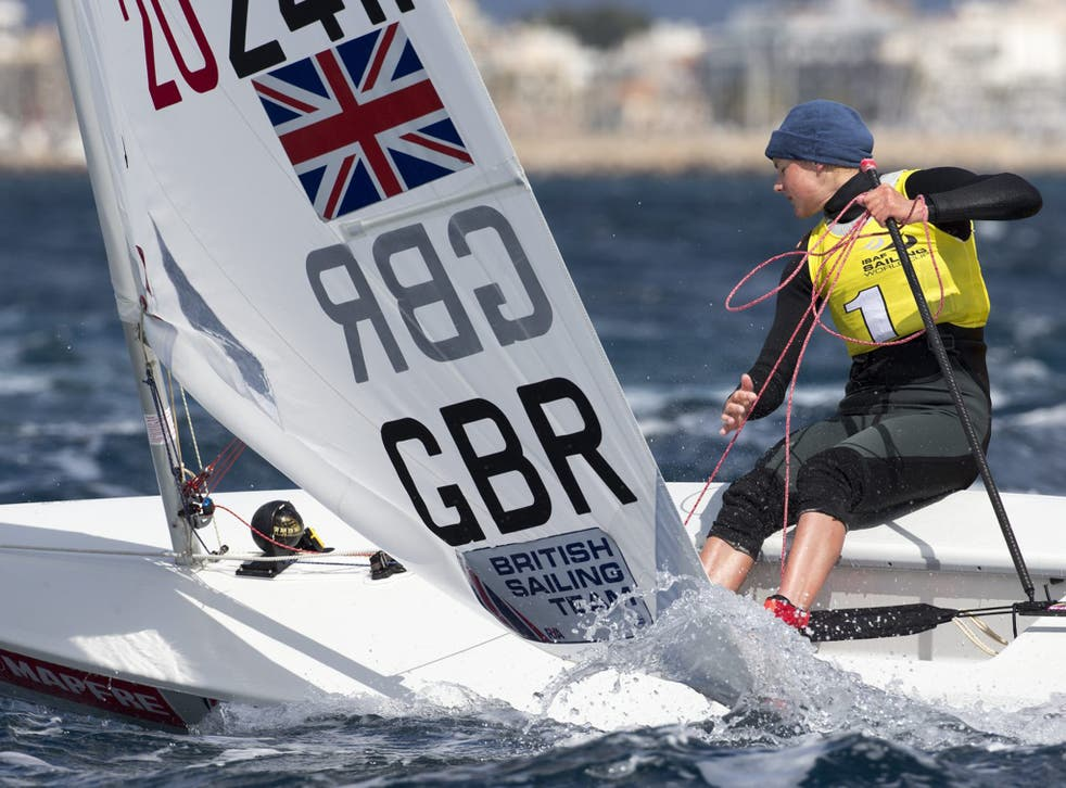 Established campaigner Alison Young put in a steely performance in the Laser Radial event