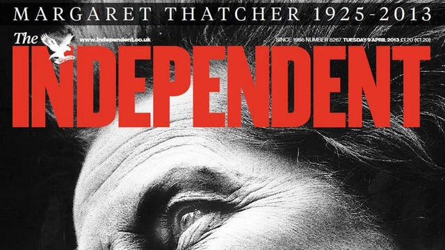 <b>The woman who changed Britain</b><br/><i>The Independent 09/04/2013</i>