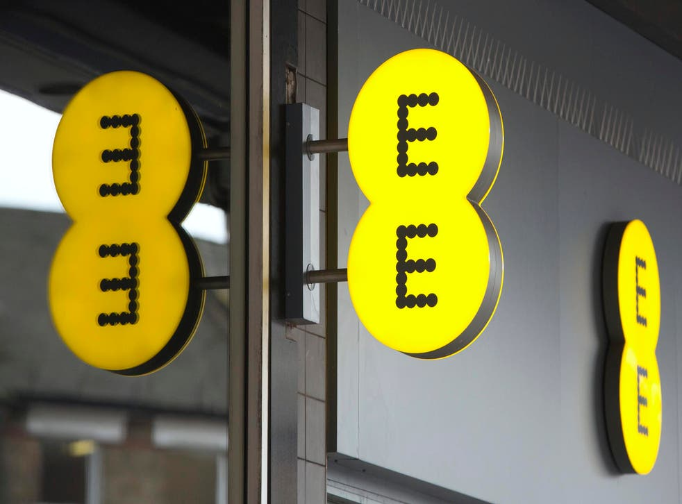 EE mobile phone network