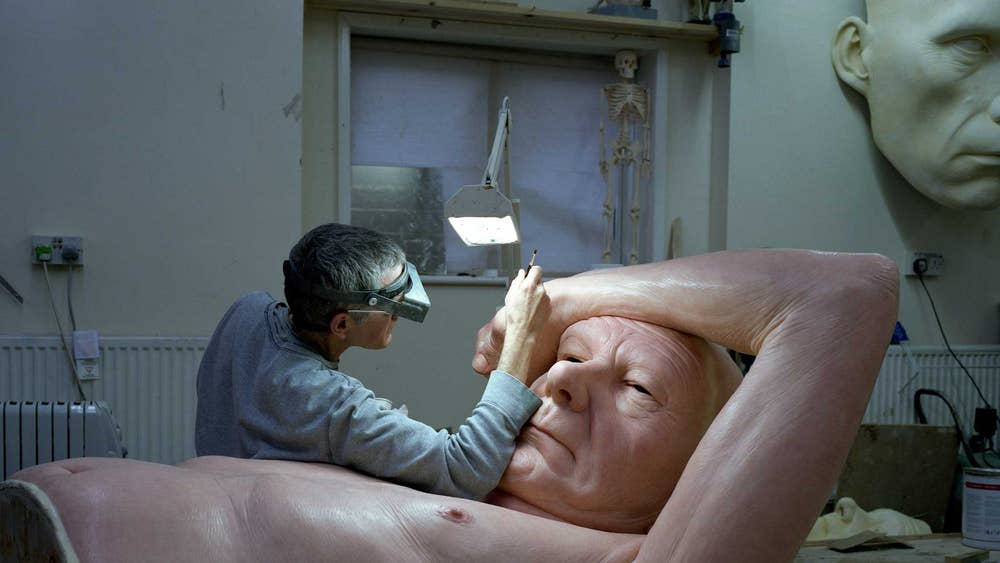 artist at work inside the workshop of ron mueck creator of eerily