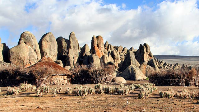 High rise: rock formations in the Bale Mountains