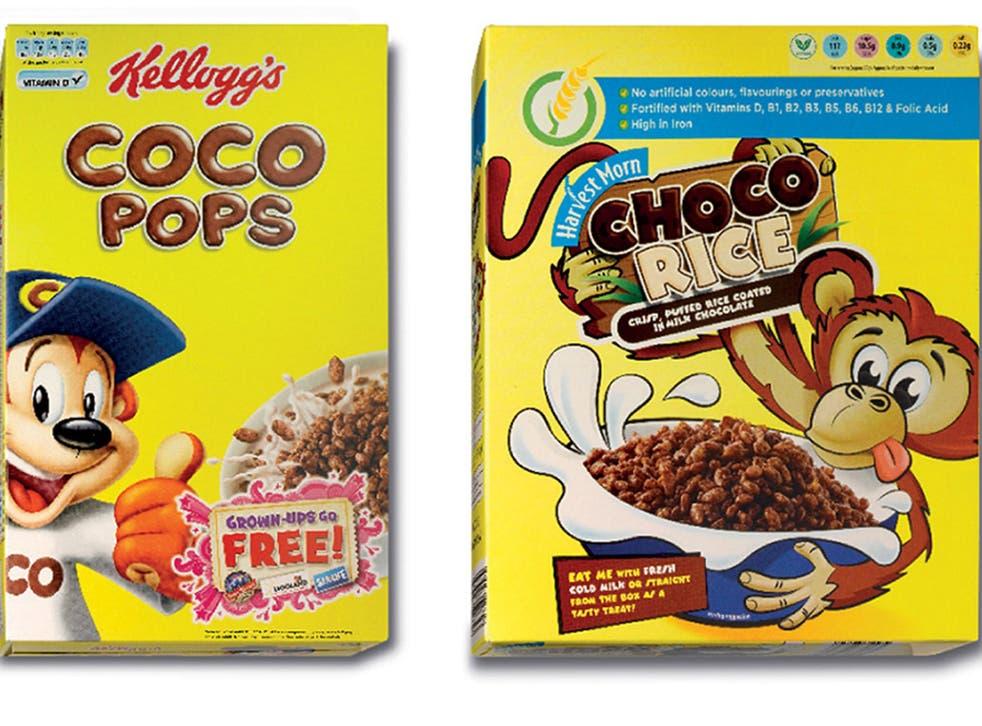 Kellog's Coco Pops and copycat Choco Rice