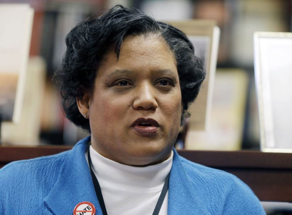 Albany Public Schools Superintendent Marguerite Vanden Wyngaard speaks about a Nazi-themed assignment given to students