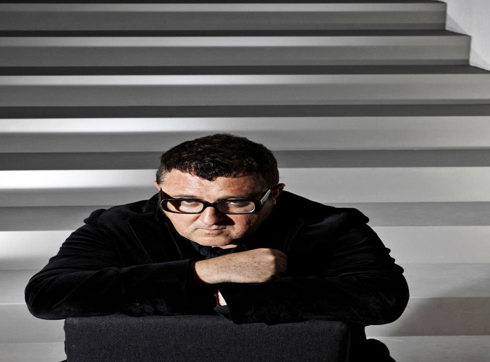 A man for all seasons: Alber Elbaz; backstage at the Lanvin spring/summer 13 show in Paris