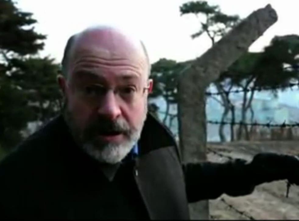 Reporter John Sweeney in the BBC's undercover documentary inside North Korea