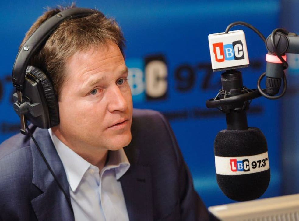 """Nick Clegg has distanced himself from the Prime Minister's claim that """"we are all Thatcherites now"""""""