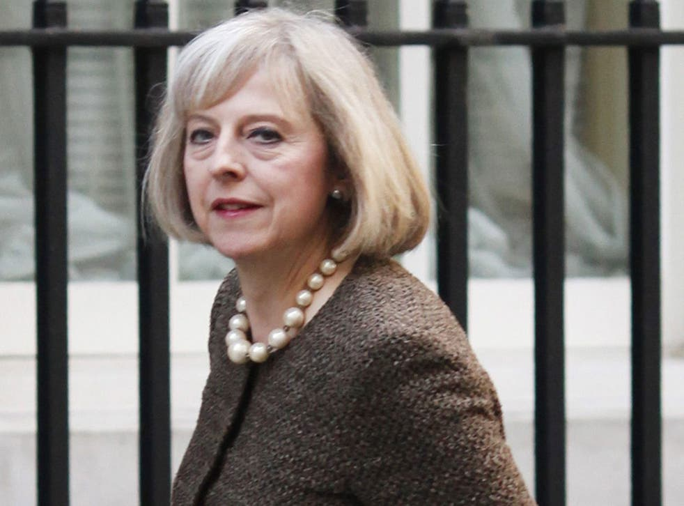 The Home Secretary Theresa May