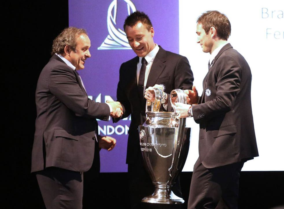 John Terry is happy to shake the hand of Uefa president Michel Platini but his relationship with David Bernstein has soured
