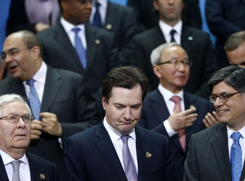 George Osborne at a meeting of G20 finance ministers