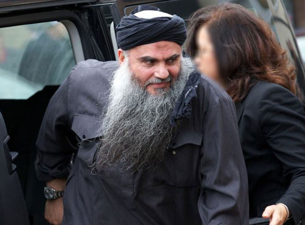 Jordanian terror suspect Abu Qatada arrives at his home in northwest London, after he was released from prison