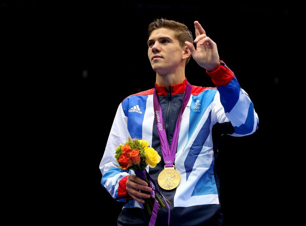 Luke Campbell with his Olympic gold medal at London 2012