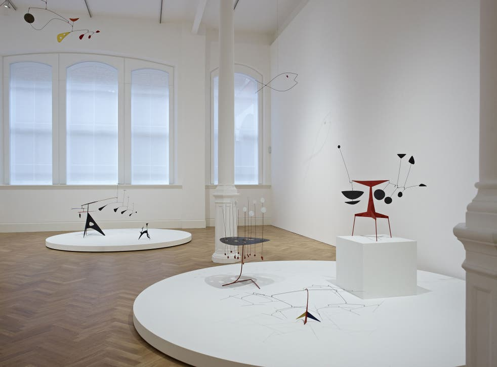 On the move: Calder's mobiles have slender elements but suggest a bigger space