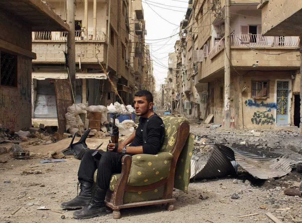 On guard: The Free Syrian Army stands its ground in Deir al-Zor
