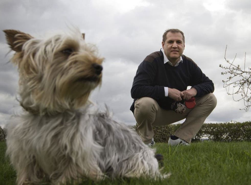Paws for thought: Gary Downie, founder of Streetkleen, isn't one to shy away from dog mess