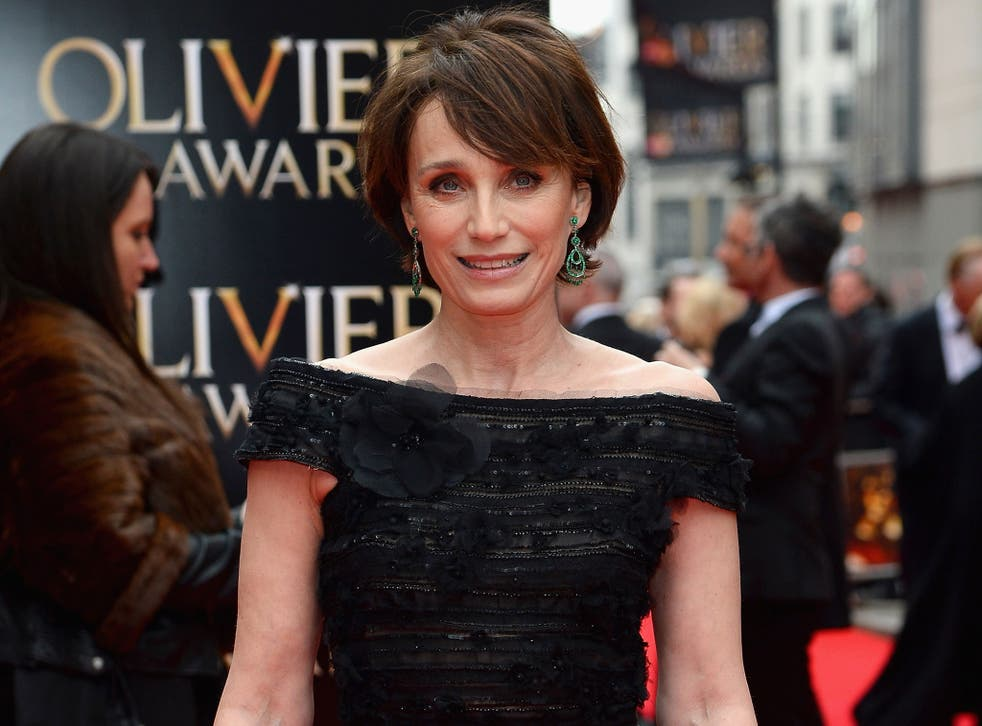 Kristin Scott Thomas outside the Royal Opera House before the ceremony (Getty)