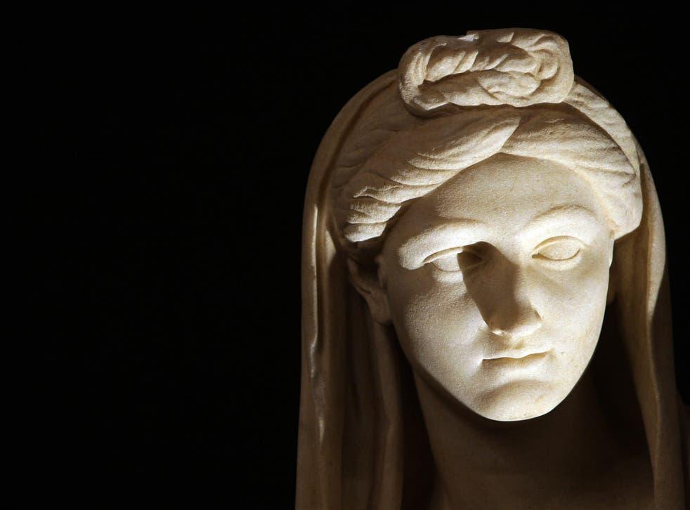 A Roman marble statue depicting Vibia Sabina
