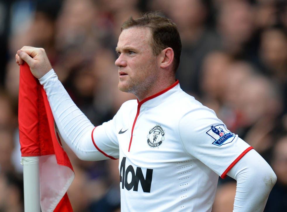 Manchester United striker Wayne Rooney at the Emirates