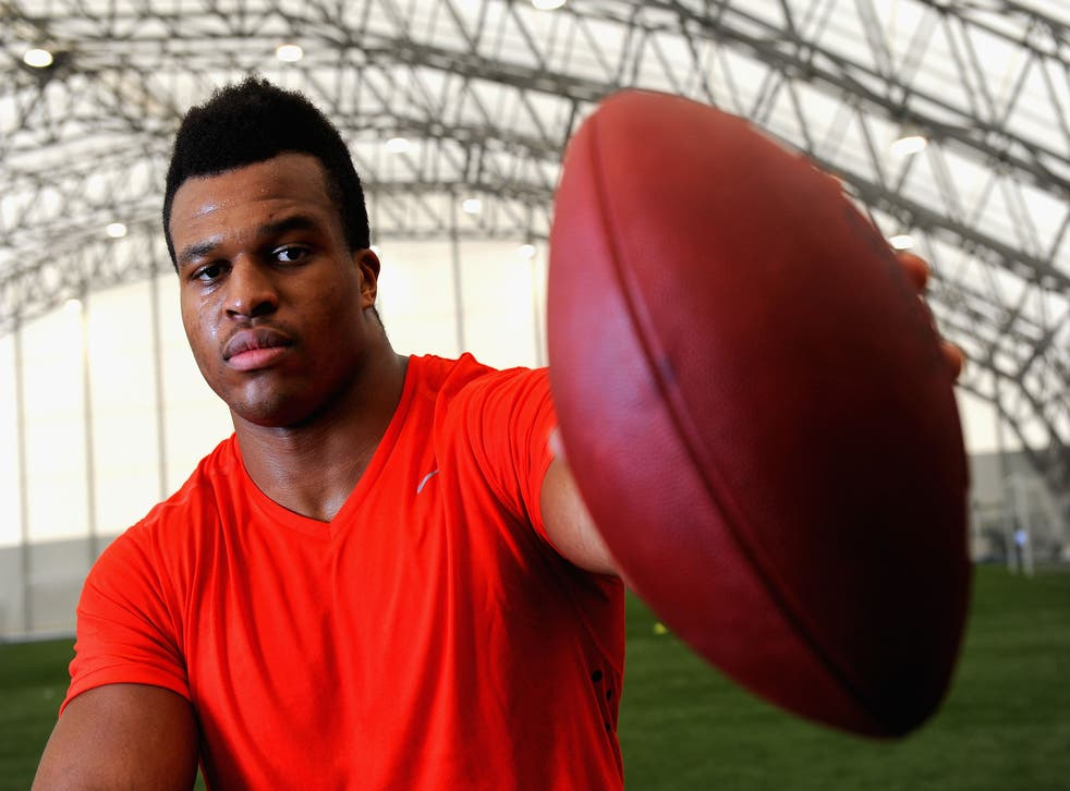 Lawrence Okoye dreams of one day playing in the Super bowl