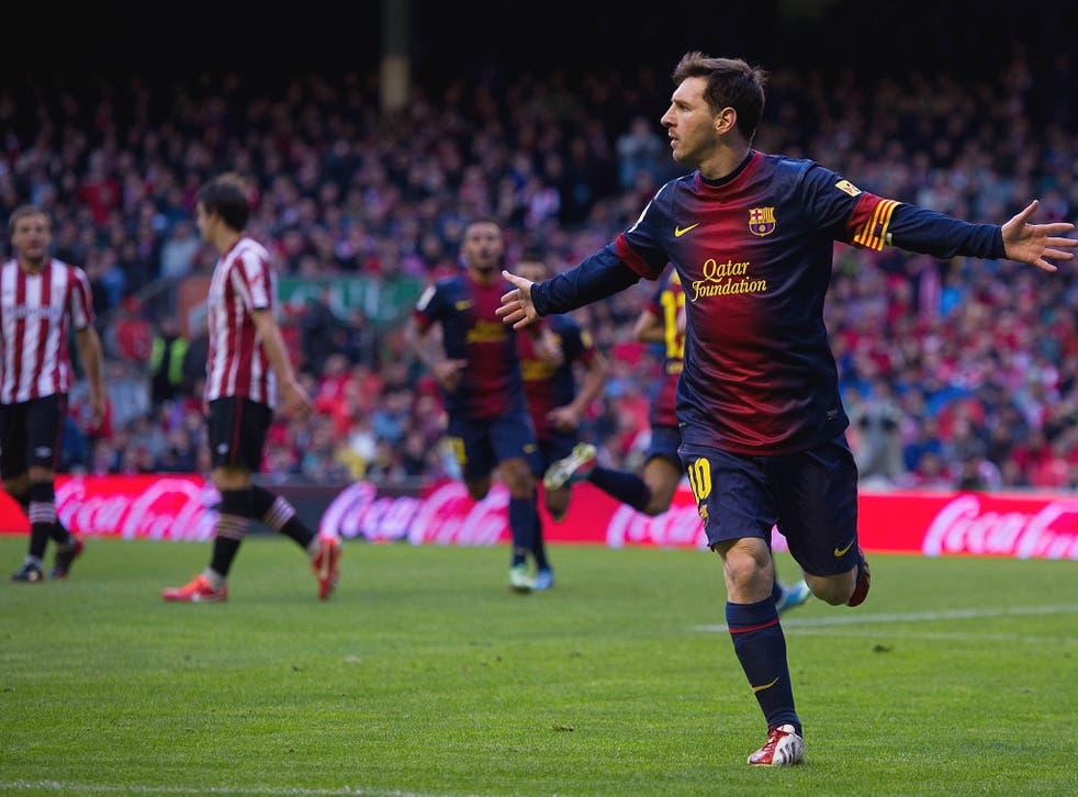 Messi scored against Athletic Bilbao