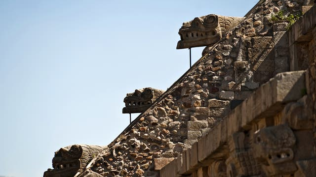 Temple of the Feathered Serpent at the archaeological site of Teotihuacan